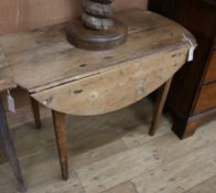 A 19th century provincial pine Pembroke table W.94cm