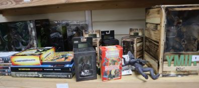Ray Harryhausen - model figures, DVDs and books, Highlander and Blade DVDs and Alien and Predator