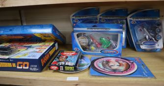 Thunderbirds - scale models and ephemera including five Bandai carded or boxed models, Matchbox