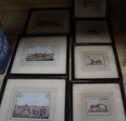 After Alken, seven colour prints, Racing scenes, largest 10 x 14cm