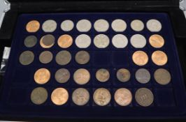 A collection of UK coins, George III onwards including 1826 halfpenny, 1851 penny, various half