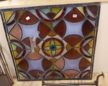 A Victorian stained glass panel