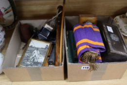 An 800 standard silver cup and various miscellaneous items