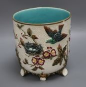 A Wedgwood majolica jardiniere height 23cm