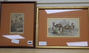 A group of six assorted prints, View of Africa and Ceylon, largest 27 x 38cm