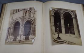 A 19th century album of albumen photos of Rome, Florence etc.