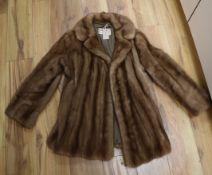 A vintage mink jacket