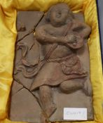 A Chinese terracotta plaque