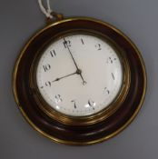 An early 19th century mahogany cased Sedan timepiece by William Smith London No. 9586