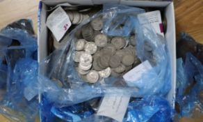 A large collection of Victorian and later British coinage