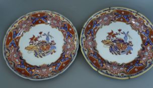 A Copeland Spode George IV Coronation specimen plate and a similar plate