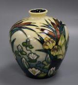 A Moorcroft bulrushes baluster vase height 16cm