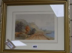 Thomas Baker of Leamington (1809-1869), watercolour River landscape, signed and dated 1836