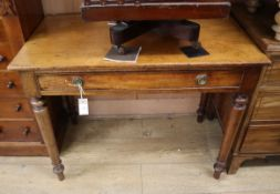 An early Victorian mahogany side table W.93cm
