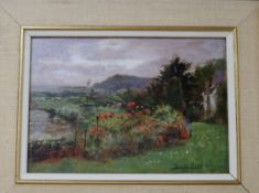 Henry John Yeend King (1855-1924), oil on board, A Garden Near the Malverns, signed and dated June