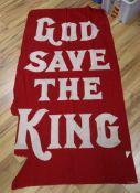 A God Save The King vintage flag / banner