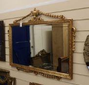 A gilt framed mirror W.97cm