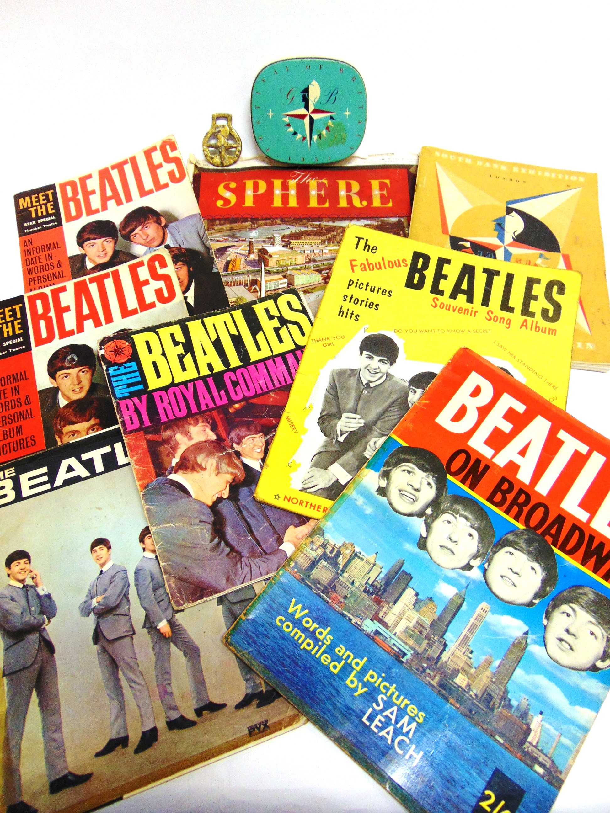 Lot 1024 - THE BEATLES & THE FESTIVAL OF BRITAIN - ASSORTED EPHEMERA comprising booklets, a miniature horse