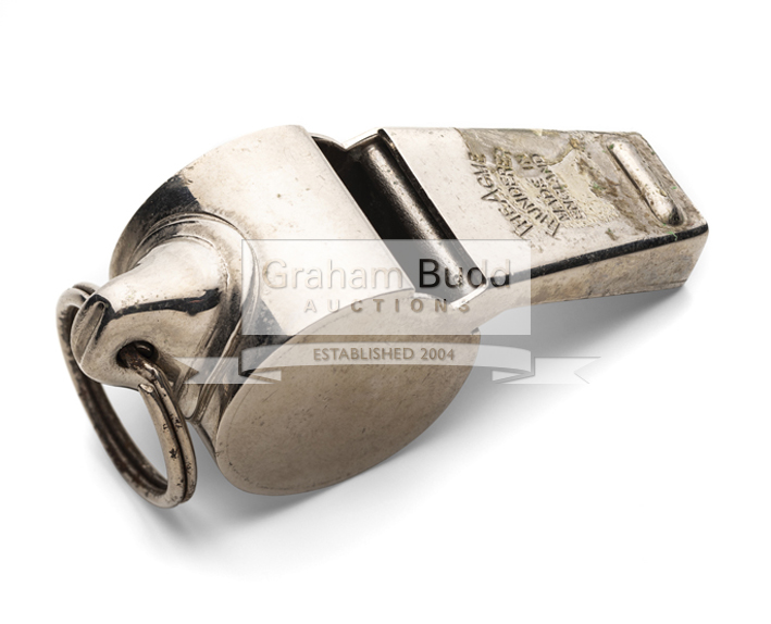 Lot 1183 - A 1974 Football World Cup Final whistle,used by referee Jack Taylor,