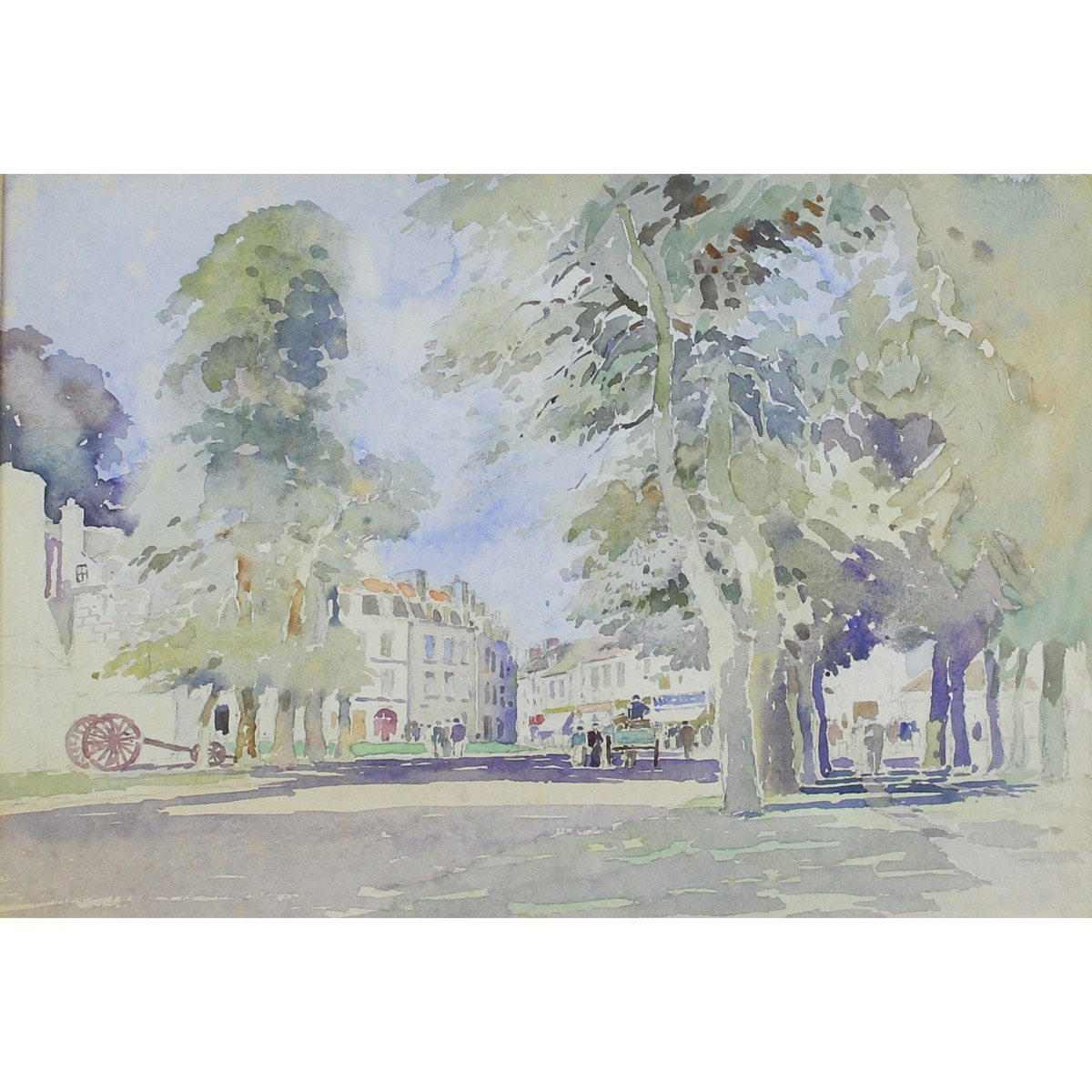 Lot 10 - Rose, David 1936-2006 British AR Canal Scene in Northern France & A French Town (Two items)