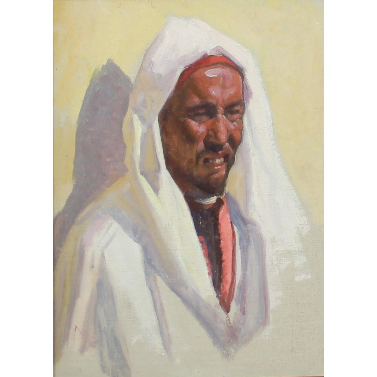 Lot 23 - Coutts, Gordon 1868-1937 Scottish AR, Portrait of an Arab Man.