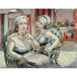 Lot 37 - Hunt, Toby b1979, died 2018? British AR, Violinist, & Two Women Chatting on a Conversation Chair (Tw