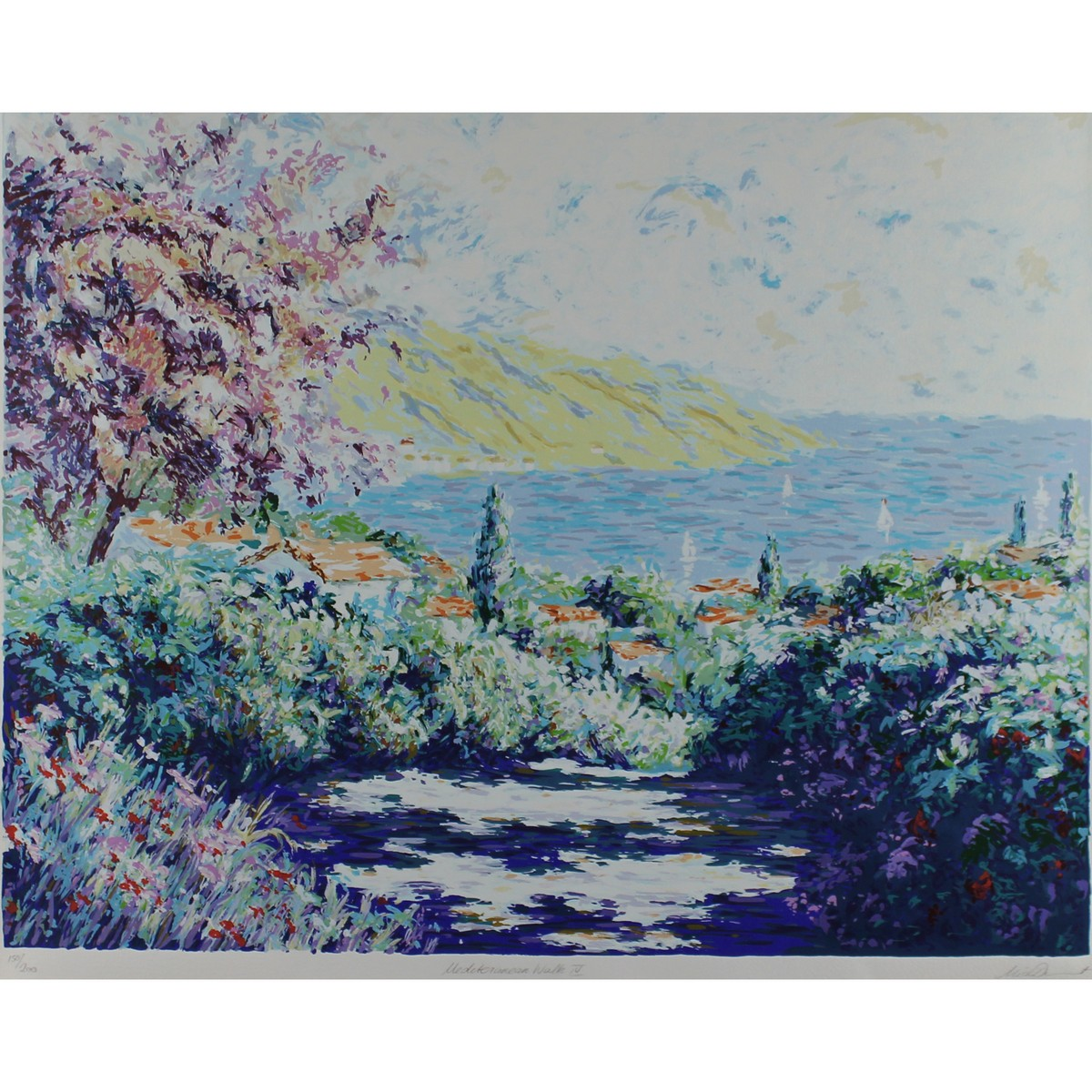 Lot 46 - Mick Illegible name Contemporary Mediterranean Walk IV