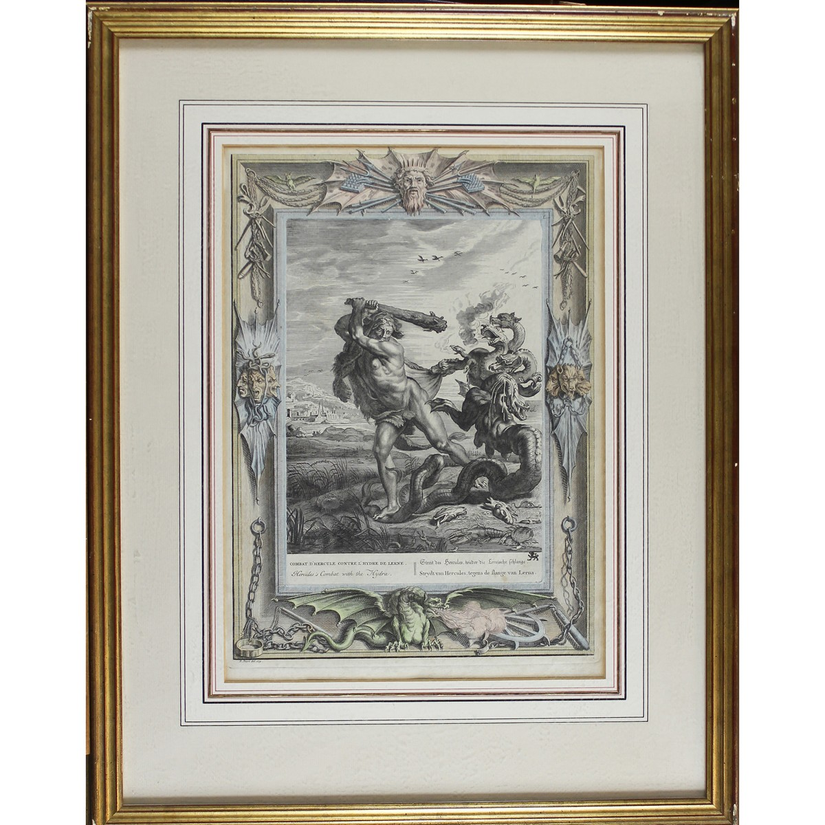 Lot 36 - A part set of four Neoclassical engravings by B. Picart.