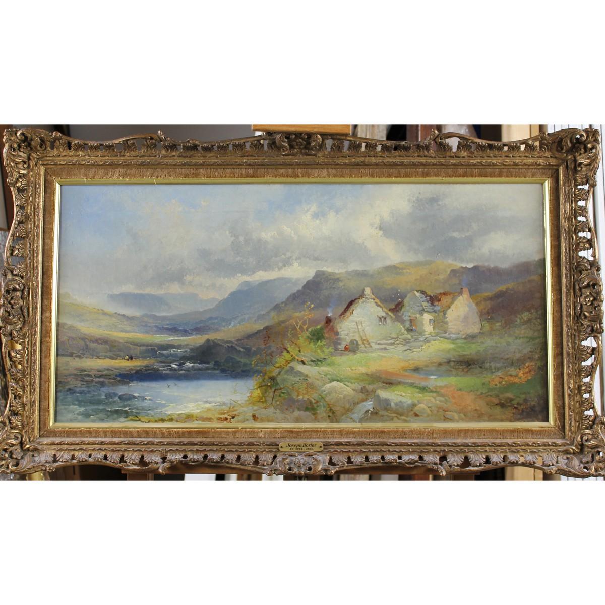 Lot 43 - Horlor, Joseph 1809-1897 British, Scottish Hills with Cottage