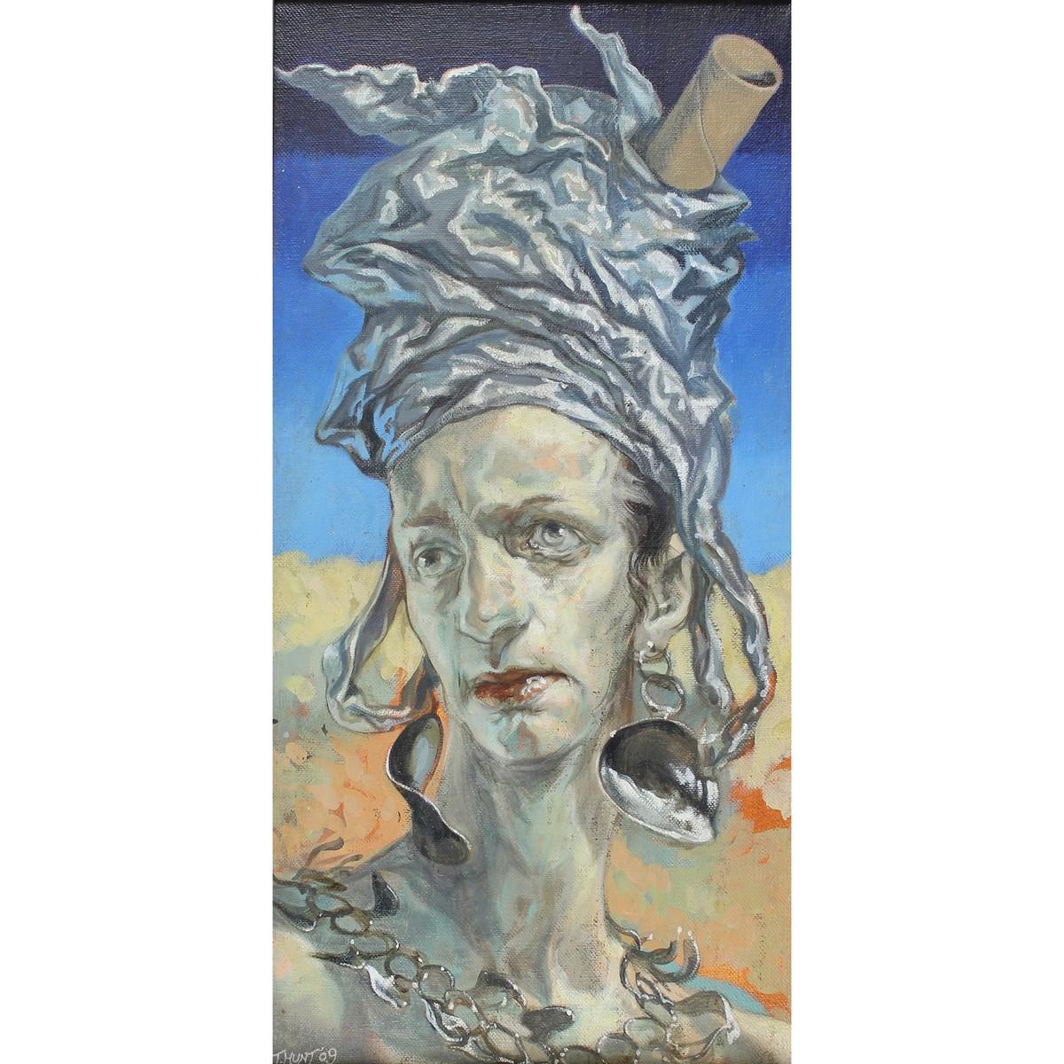 Lot 38 - Hunt, Toby 1976 - 2018? British AR, Woman with Wild Headgear