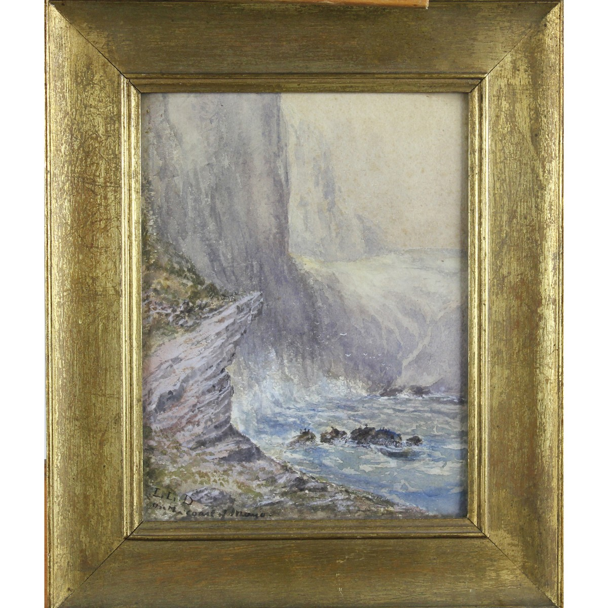 Lot 25 - Lucien Levy-Dhurmer 1865-1953 French AR, On the Coast Of Mayo.