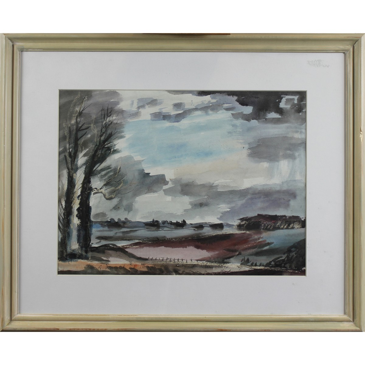 Lot 13 - Suddaby, Rowland 1912-1972 British AR, View of Dovercourt and Harwich from Kirby le Solen, Essex.