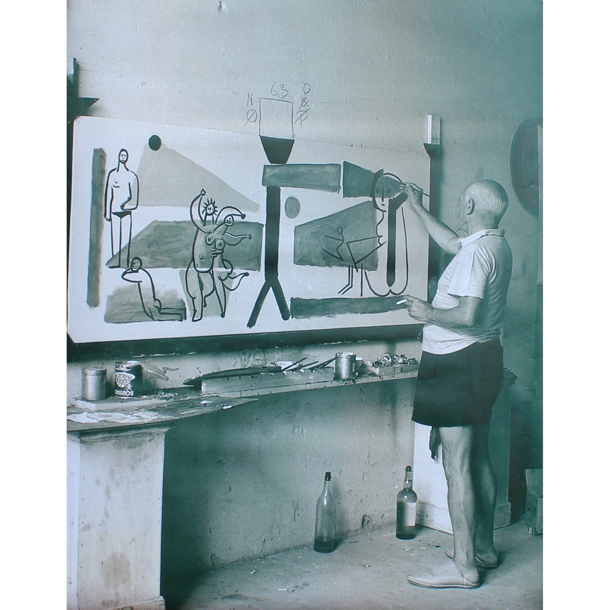 Lot 45 - Picasso, Pablo 1881-1973 Spanish AR, Large Advertising Photograph of Picasso Painting