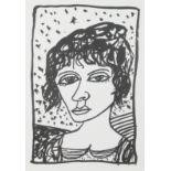 Lot 42 - Bellany, John 1942-2013 British AR, Striking Young Woman