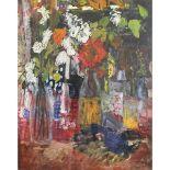 Lot 15 - Cooke, Jean 1927-2008 British AR, Flowers in Bottles.