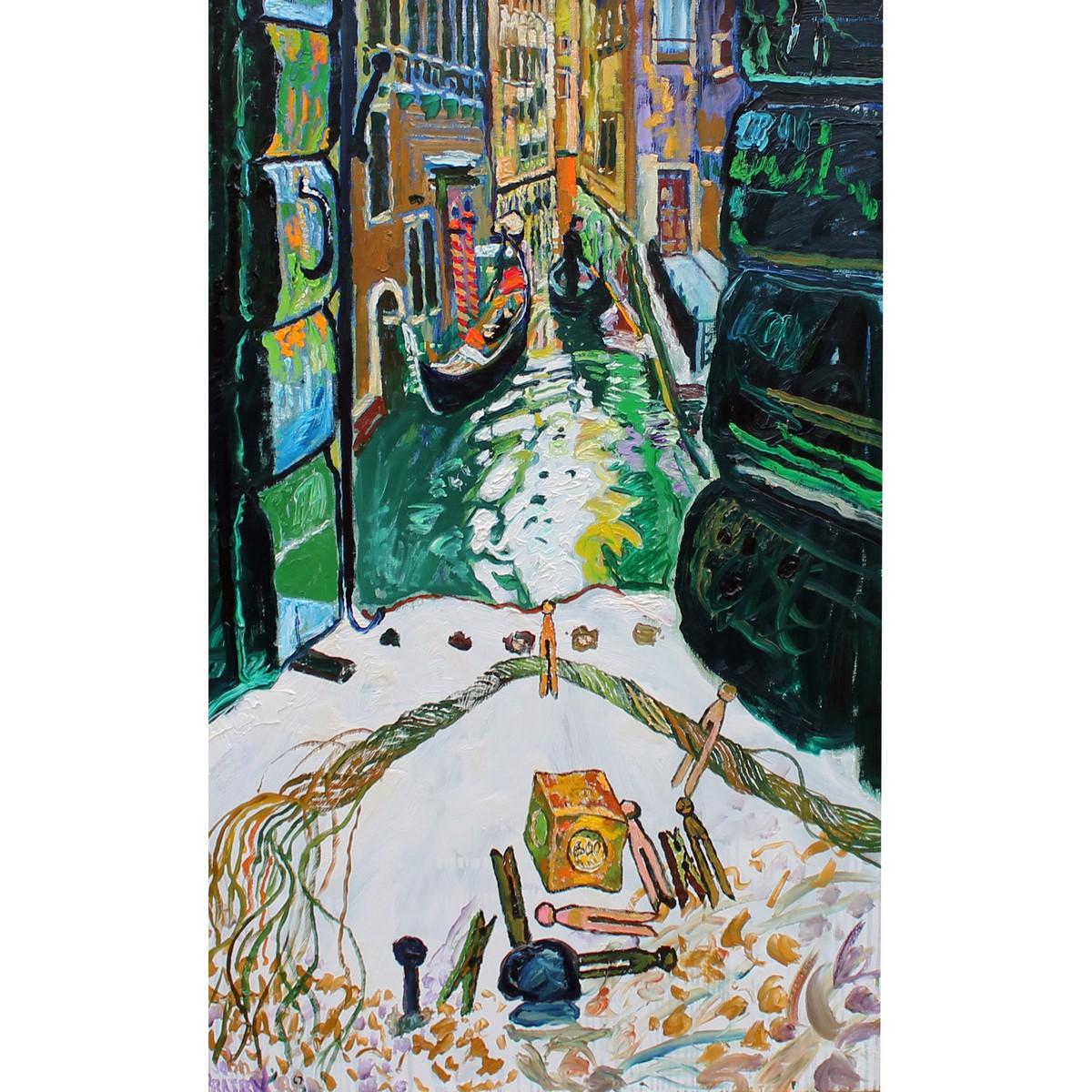 Lot 9 - Bratby, John Randall, 1922-1992 British AR, Venice, View through the Window