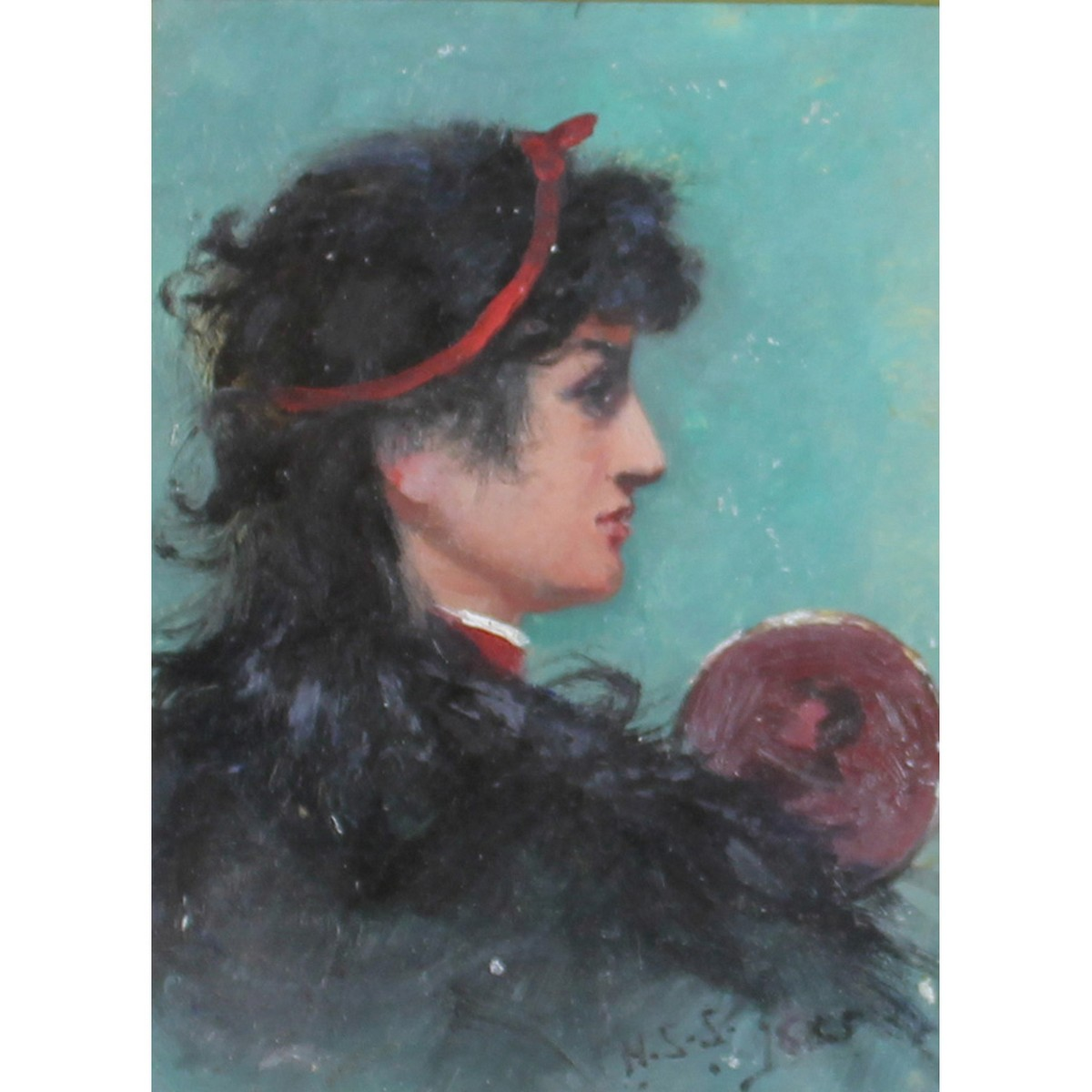 Lot 18 - Sparrow, Walter Shaw 1862-1940 British, Two Portraits of a Young Woman and a Young Man