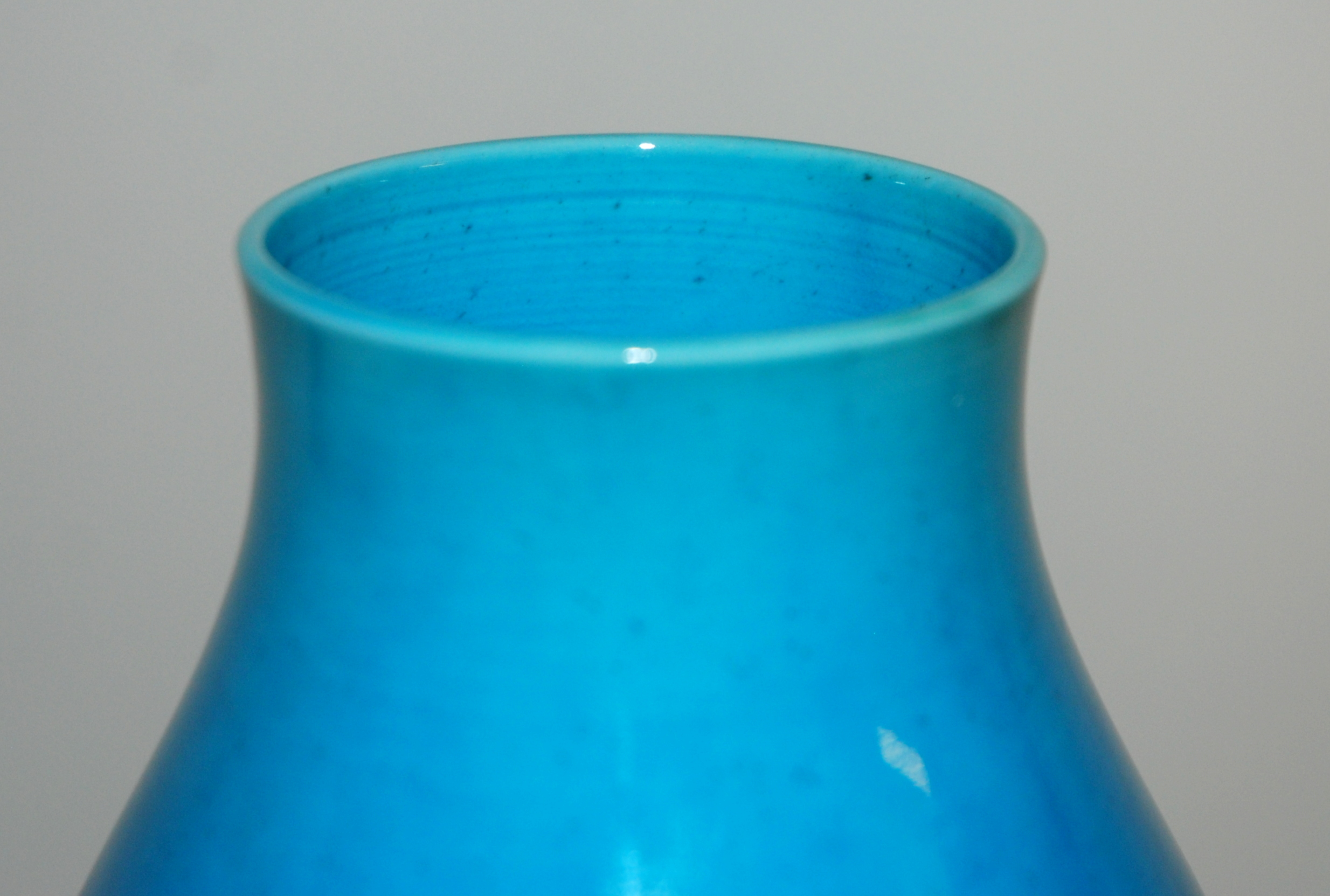 Lot 17 - A CHINESE BLUE GROUND DOUBLE GOURD VASE 35.5cm high and a sang de beouf, vase 20cm high (2)