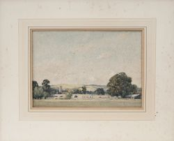 Original watercolour painting STOKE CANON DEVON by E. T. Holding. Produced for the GWR Publicity