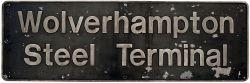 Nameplate WOLVERHAMPTON STEEL TERMINAL ex BR class 56 56069. Built at BREL Doncaster in December