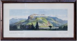 Carriage print BEN NEVIS FROM CORPACH, WESTERN HIGHLANDS by F. Donald Blake from the LNER Post War