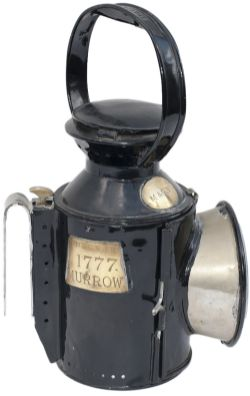 Midland and Great Northern Railway 3 Aspect handlamp stamped in the side and handle M&GNJR. Brass
