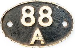 Shedplate 88A Cardiff Cathays 1950-1957 with a sub shed of Radyr, Radyr 1957-1961, Cardiff Canton