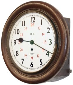 Great Northern Railway mahogany cased 10 inch fusee clock lettered on the dial BR 12234 with