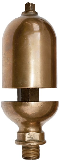 London Midland and Scottish Railway brass locomotive whistle measuring 11in long x 3.75in diameter