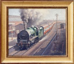 Original Oil Painting on canvas of ROYAL SCOT 46137 THE PRINCE OF WALES' VOLUNTEERS (South