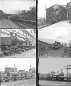Approximately 52 large format glass negatives. Mostly LMS, a few LNER and Met Rly taken in 1934.