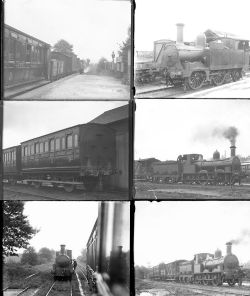 Qty 8 large format glass negatives Bishops Castle Rly taken in 1932. Negative numbers within