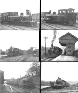 Qty 36 large format glass negatives. Includes 11 Leek & Manifold Rly and 25 North Staffs Rly taken
