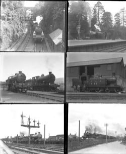 Approximately 51 large format, almost all are glass negatives. Mainly LMS, but some CR, LNER, G&